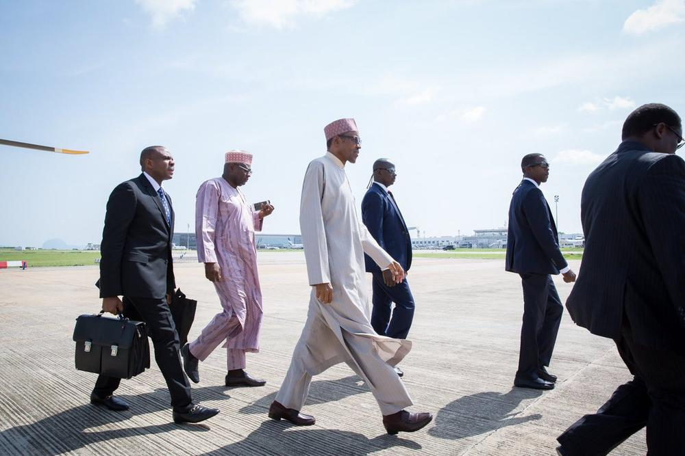 President Buhari Departs for London1