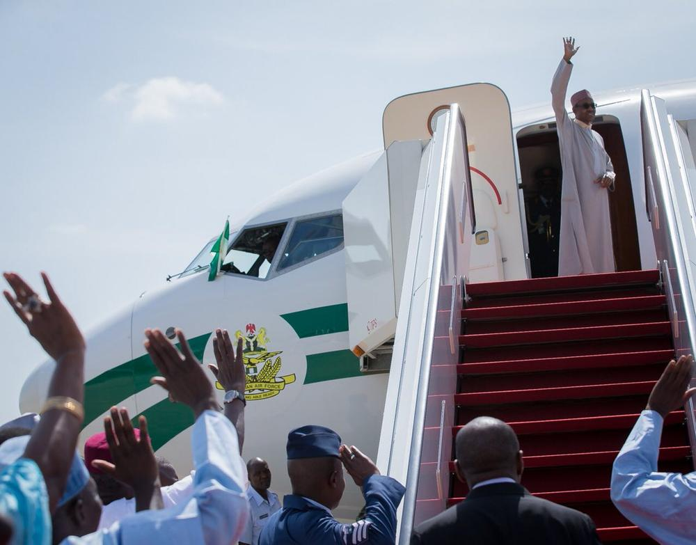 President Buhari Departs for London4