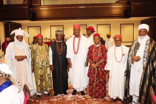 President Buhari hosts traditional rulers2
