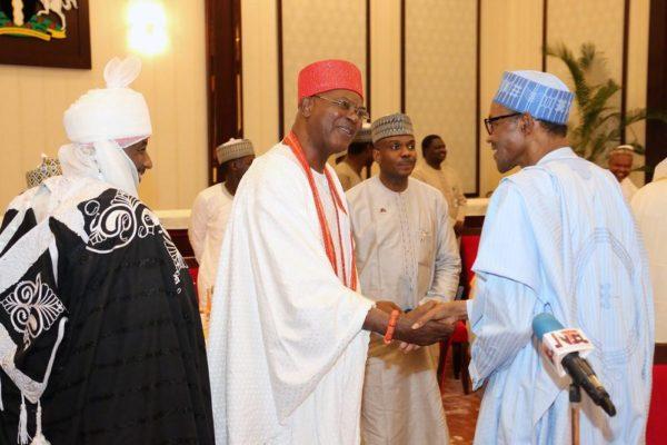 President Buhari hosts traditional rulers3