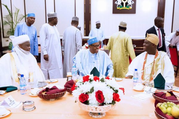 President Buhari hosts traditional rulers7