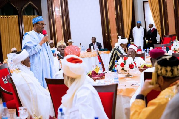 President Buhari hosts traditional rulers8