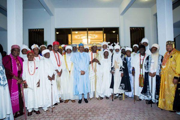 President Buhari hosts traditional rulers9
