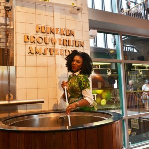 Stephanie Coker at the Heineken Experience