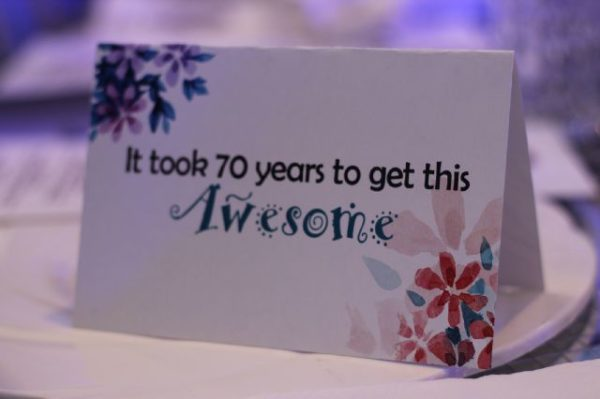 Table cards for the Birthday