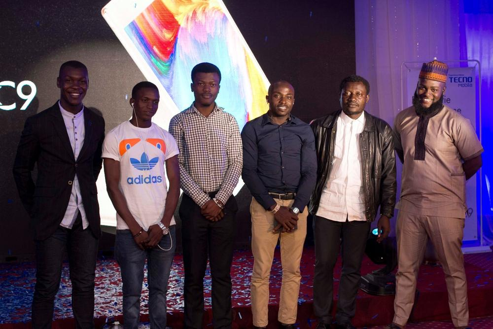 Tecnogram photo contest: Judges Seyi Body-Lawson and Obi Somto (extreme ends) and the contest finalists
