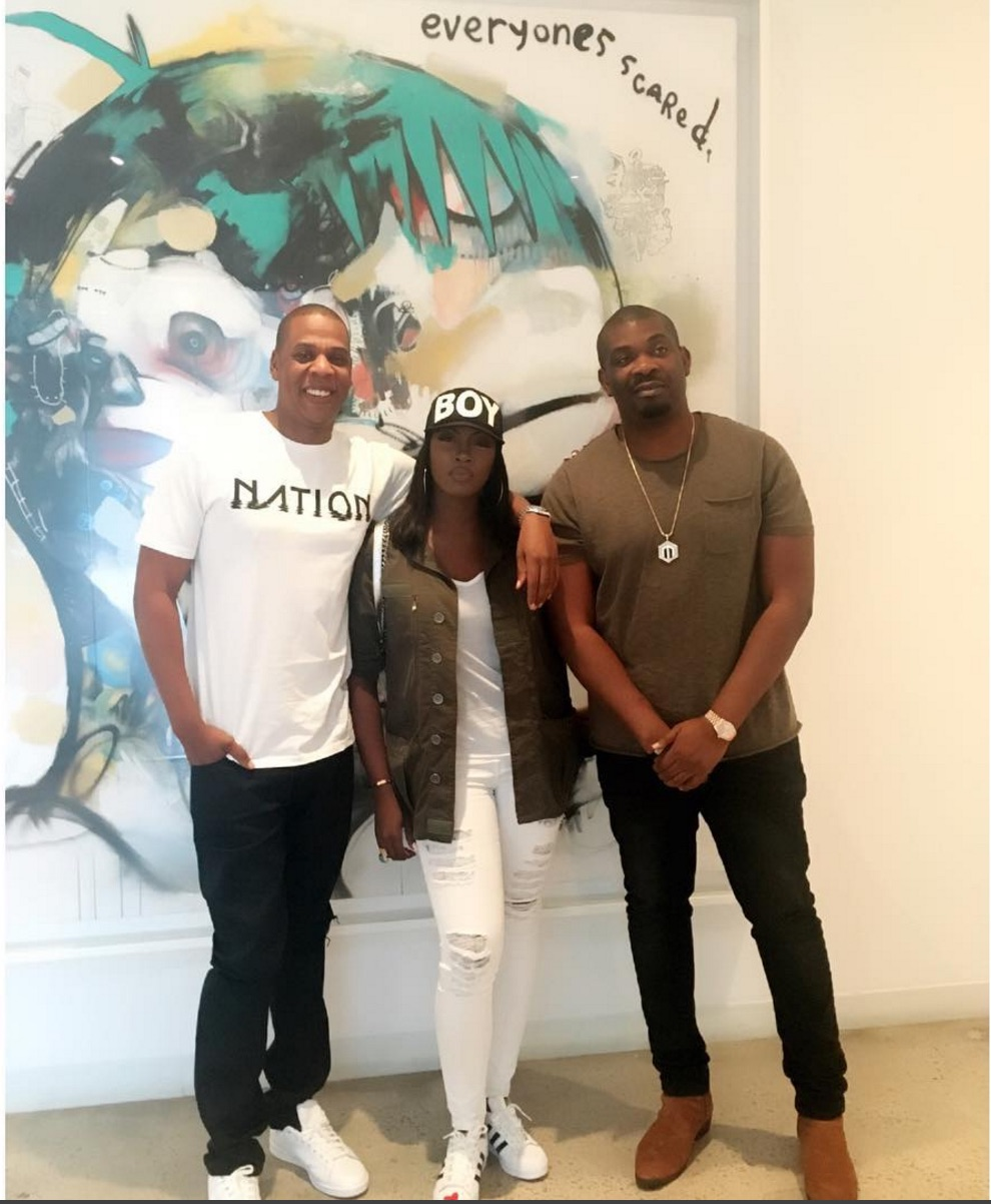 Tiwa Savage, Jay Z & Don Jazzy! See the Superstar Trio at Roc Nation ...