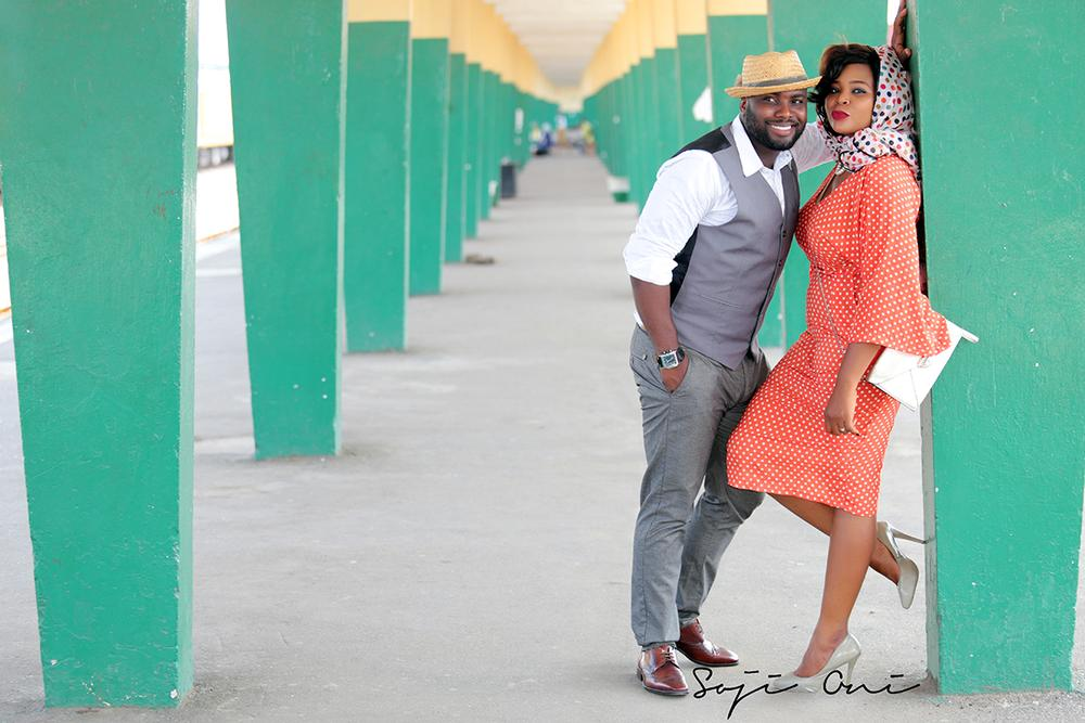 Train Station Pre Wedding Shoot in Lagos 2