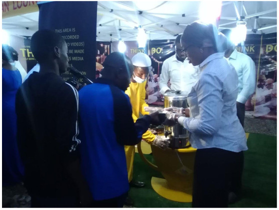 Unilever's brand building director of food, Nsima Ogedi-Alakwe engaging with consumers at a Lipton Ramadan Lounge in Lagos