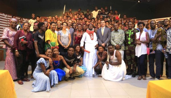 Wale Adenuga MFR, Laurent Polonceaux, Aurélien Sennacherib, Laurre Kesler, PEFTI MD, Femi Durojaiye, with Cast and Crew of IDIA Epic Play at PEFTI.