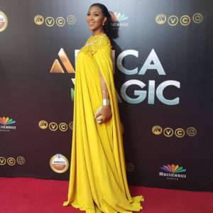 Another red carpet look by Lilian Esoro