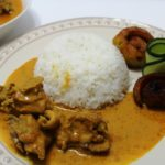 coconut chicken curry served with rice