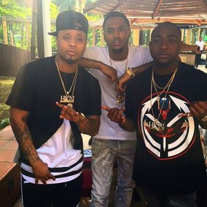 Trey Songz with Bred and Davido in December 2015