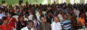 Cross-section of youth in attendance at the event
