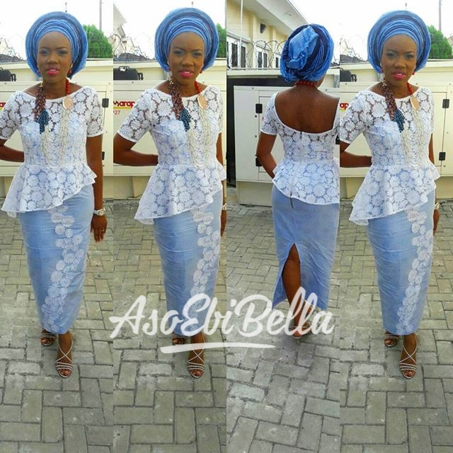 @odukoya.tobi in @primarougefashion_aso ebi, asoebi, asoebibella