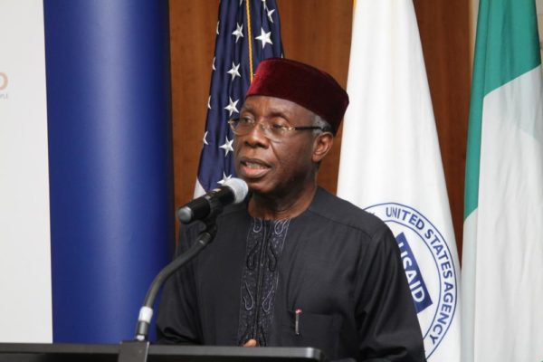 Agriculture Minister Audu Ogbe Giving remarks
