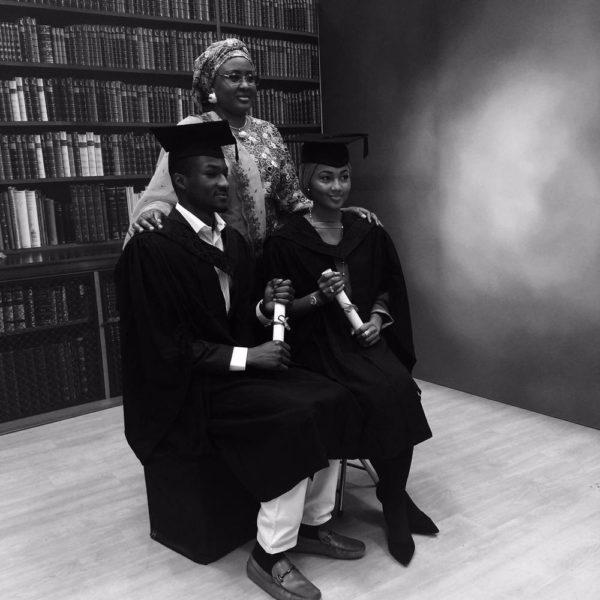 Aisha, Zahra and Yusuf Buhari