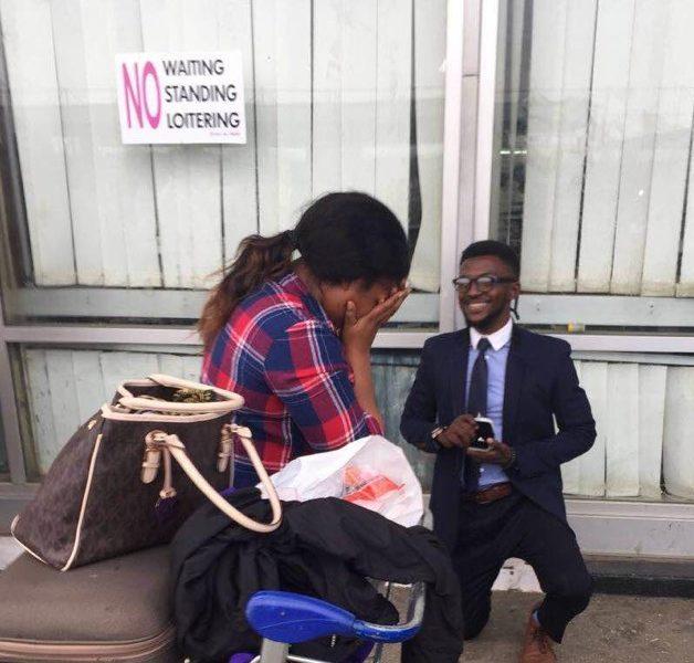 "#BNBling: ""Say Yes!"" Chidera's Shocking Airport Proposal"