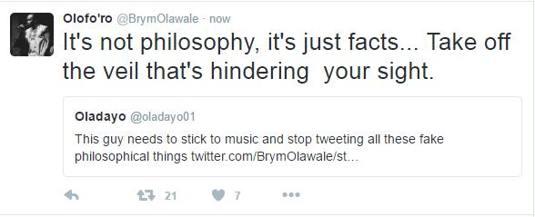 Brymo's Tweet11