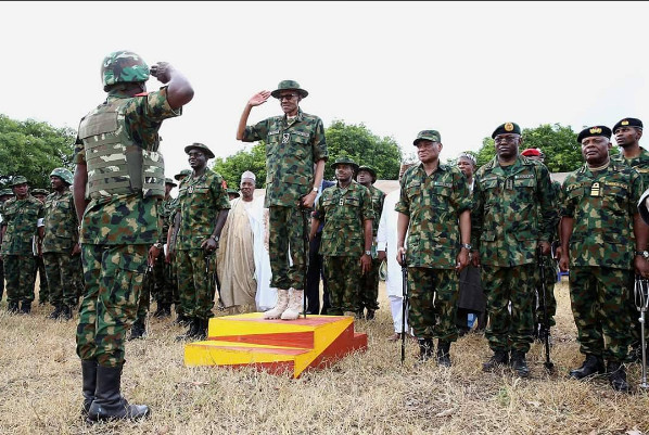 Buhari on Military Uniform4