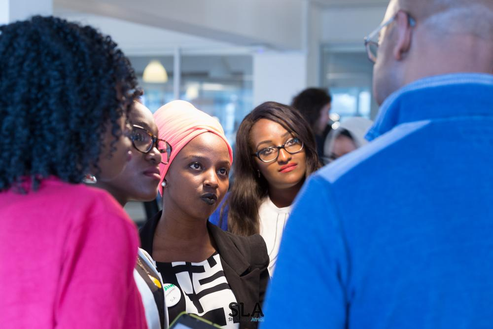 Collymore networking with participants(2)