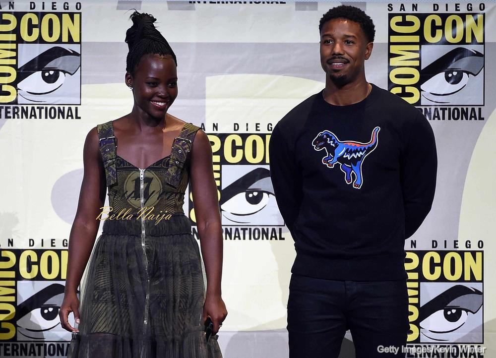 Lupita Nyong' and Michael B. Jordan