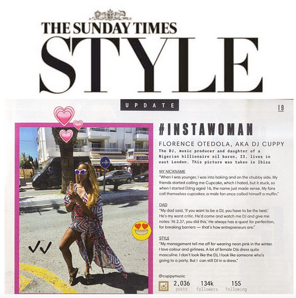 DJ Cuppy - Insta Woman - Sunday Times Style 2