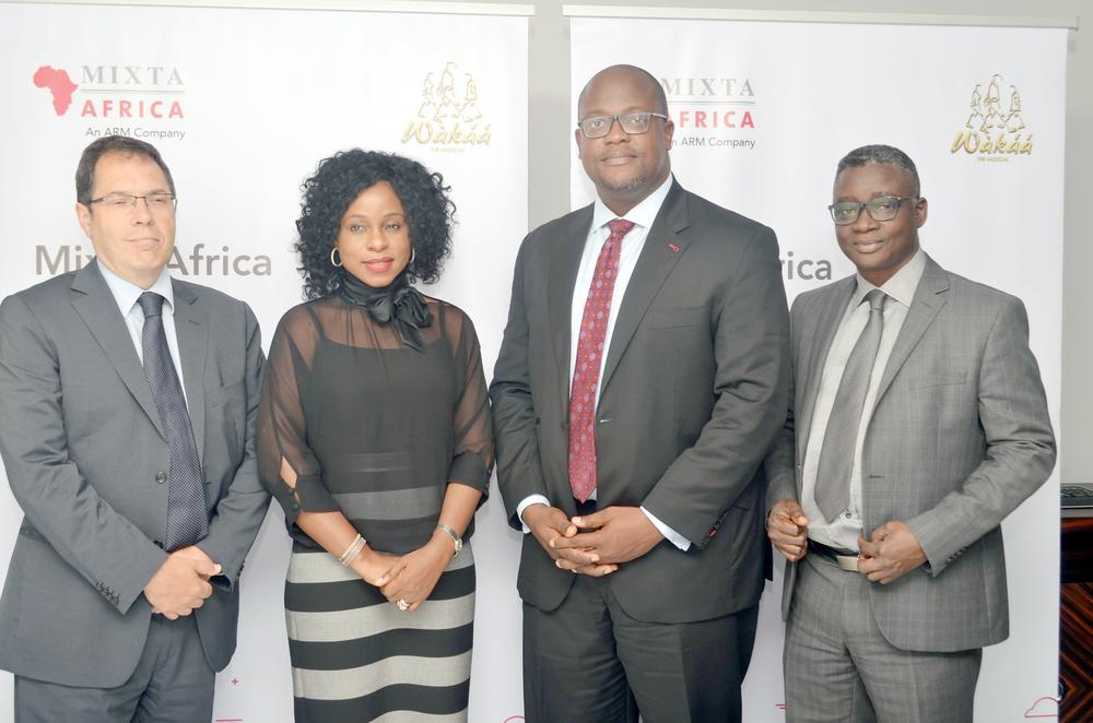 (Marcel Escriba (Finance Director, Mixta Africa), Bolanle Austen-Peters (Creative Director, BAP Productions), Kola Ashiru-Balogun (MD, Mixta Nigeria), Benson Ajayi (Chief Finance Officer, Mixta Africa)