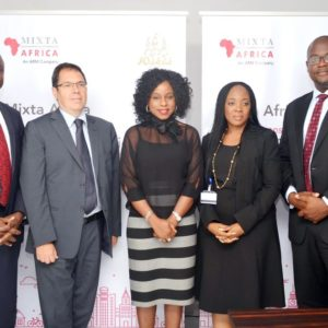 (Tunji Osinulu (Head, Business Development and Retail Sales, Mixta Nigeria), Marcel Escriba (Finance Director, Mixta Africa), Bolanle Austen-Peters (Creative Director, BAP Productions), Uche Azubuike (MD, ARM Academy), Kola Ashiru-Balogun (MD, Mixta Nigeria)