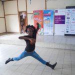 Dance instructor Julia displaying