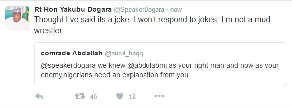 Dogara Tweets4