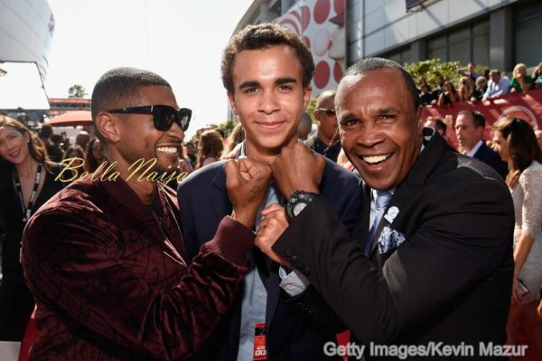 Usher, Daniel Ray Leonard and Sugar Ray Leonard