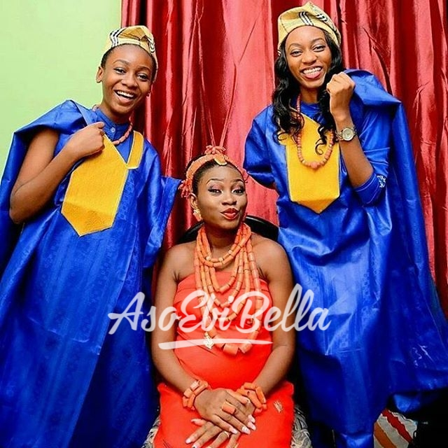 Edo bride @beckysumw and her sisters