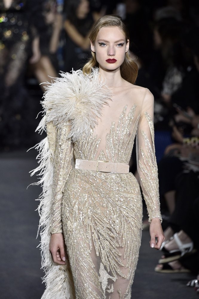 Elie saab at paris fashion week haute couture fall for Haute couture garments