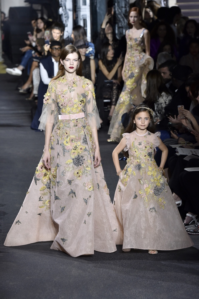 Elie Saab at Paris Fashion Week Haute Couture Fall ...
