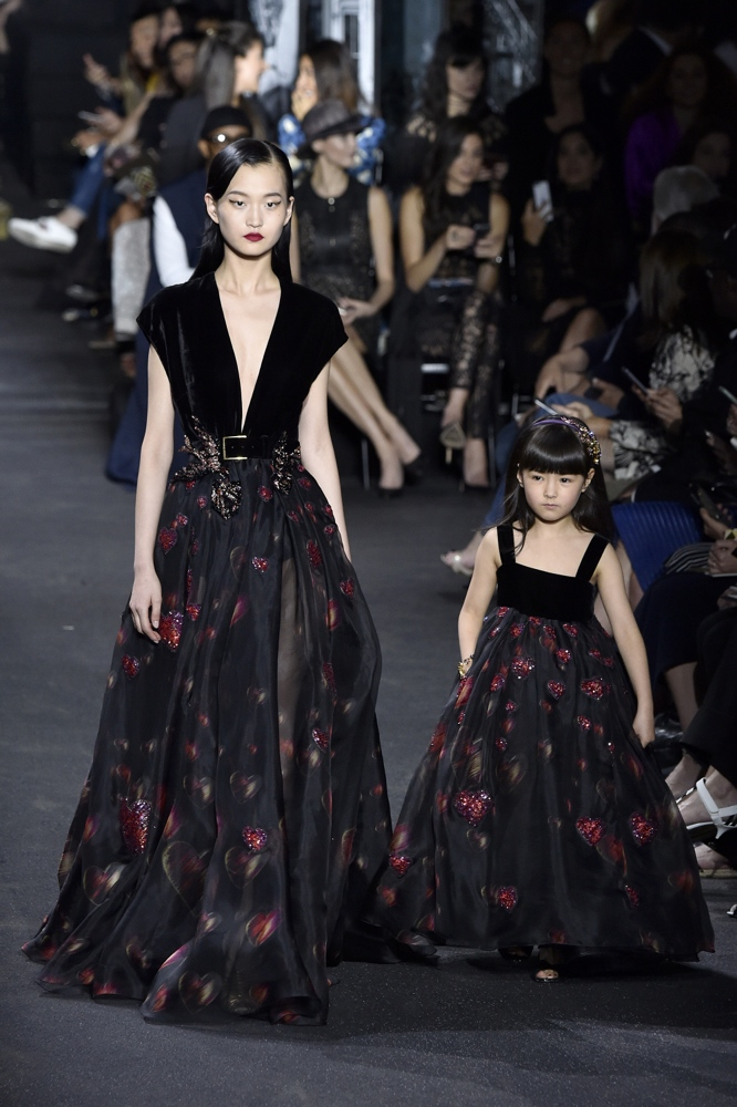 PARIS, FRANCE - JULY 06: Models walk the runway during the Elie Saab Haute Couture Fall/Winter 2016-2017 show as part of Paris Fashion Week on July 6, 2016 in Paris, France. (Photo by Kristy Sparow/Getty Images)