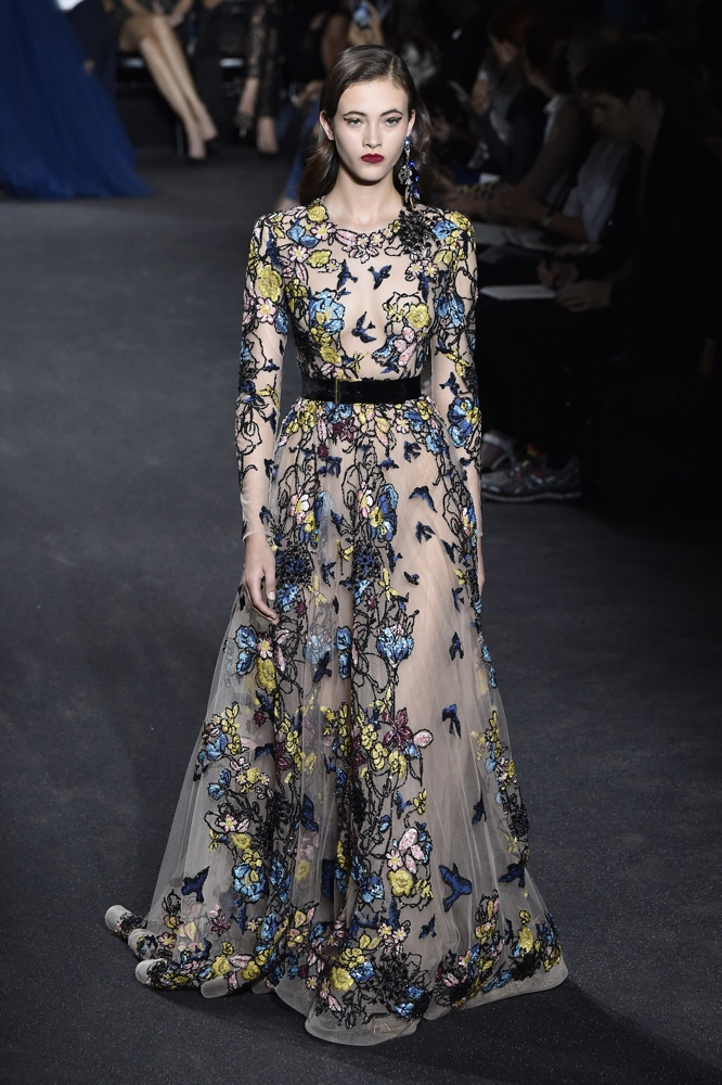 Elie saab at paris fashion week haute couture fall for Couture clothing