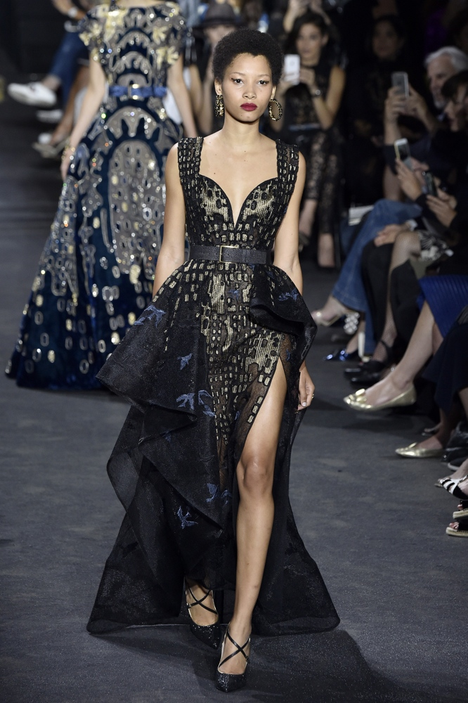 PARIS, FRANCE - JULY 06: A model walks the runway during the Elie Saab Haute Couture Fall/Winter 2016-2017 show as part of Paris Fashion Week on July 6, 2016 in Paris, France. (Photo by Kristy Sparow/Getty Images)