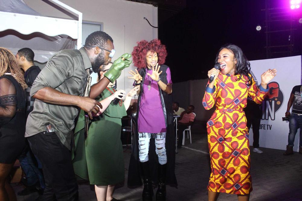 Eunice Omole and Denrele Edun Karaoke
