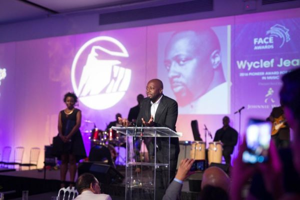 Wyclef accepted the 2016 Johnnie Walker Pioneer Award for Impact in Music with a powerful speech