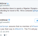 FG Responds to Olympic story