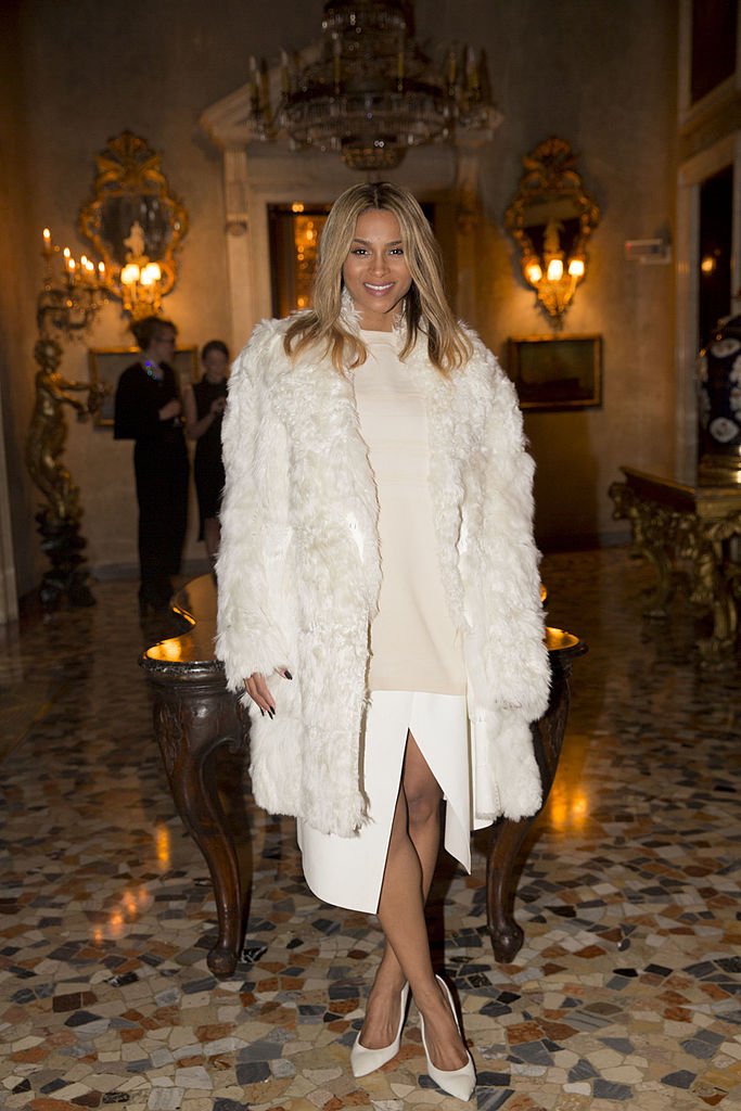 MILAN, ITALY - JANUARY 12: Ciara attends the Calvin Klein Collection after party as a part of Milan Fashion Week Menswear Autumn/Winter 2014 at Palazzo Crespi on January 12, 2014 in Milan, Italy. (Photo by Kevin Tachman/Getty Images)