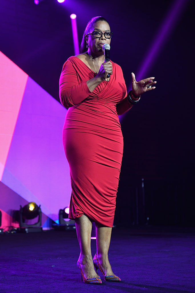 NEW ORLEANS, LA - JULY 02: Oprah Winfrey speaks onstage during the 2016 ESSENCE Festival presented By Coca-Cola at Ernest N. Morial Convention Center on July 2, 2016 in New Orleans, Louisiana. (Photo by Paras Griffin/Getty Images for 2016 Essence Festival)