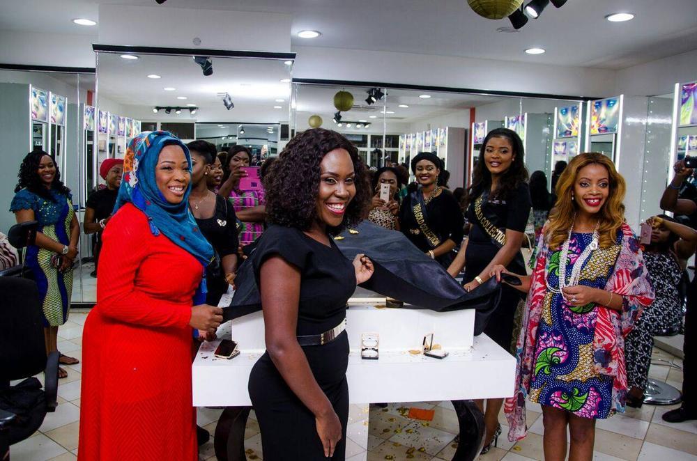 L – R Bose Fashina (1st Tara Bride), Tara Fela Durotoye and Mwamvita Makamba @ Abuja Launch