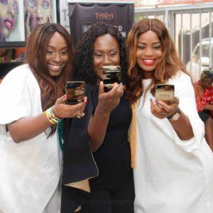 L – R Osayi Allie, Tara Fela Durotoye and Iro Obuoforibo