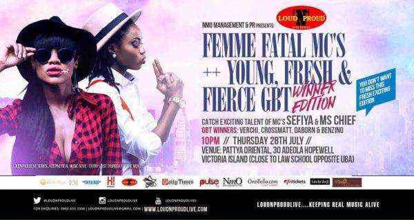 LoudNProudLive Series Femme Fatal + GBT Winners Edition