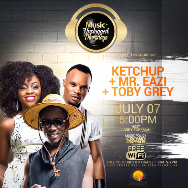 MUSIC PLUS NEW TEMPLATE SINGLE Ketchup + Mr Eazi + Toby Grey