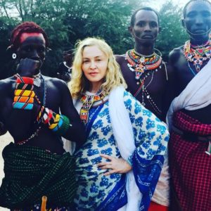 Madonna with the Samburu Tribe