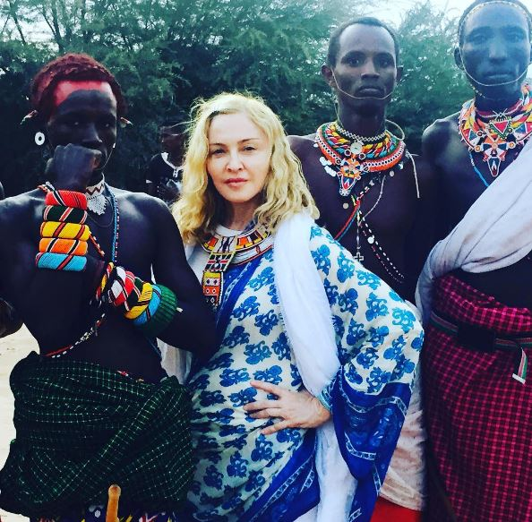 Madonna with the Samburu Tribe