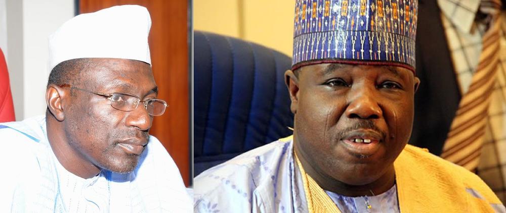 PDP Factional Chairmen: Ahmed Makarfi (L) and Ali Modu Sheriff (R)